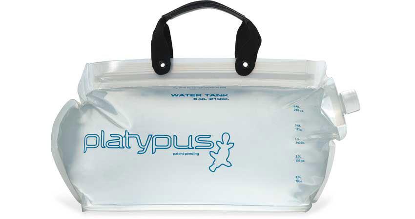 Platypus Duolock Softbottle 2.0L Clear Platy Logo Water Carrier Soft Bottle