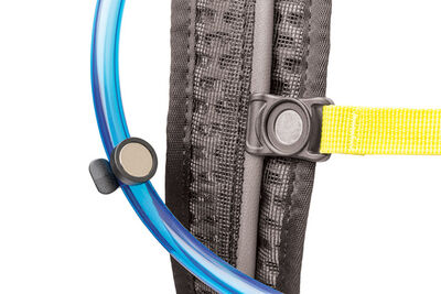 Magnetic hydration hose retention